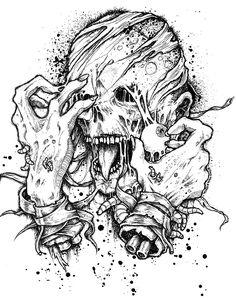 """""""Ripped Off Face"""" by riddickart.deviantart.com on @DeviantArt"""