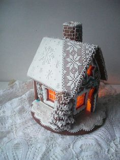 Gingerbread House With A Real Chimney ~ Cookie Connection: