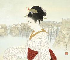 """志村立美 美人画 『河岸』# """"Kawagishi"""""""