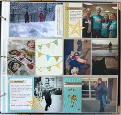 More March Memories Layout (Page 2) by Heather Nichols for Papertrey Ink (April 2014)