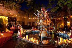 Dia de los Muertos fountain decoration