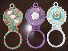 Crochet Owls, Crochet Buttons, Crochet Blocks, Crochet Doilies, Crochet Yarn, Diy Crafts For Home Decor, Cd Crafts, Towel Crafts, Diy Craft Projects