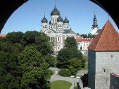 Nevsky Cathedral, on the way to Toompea Hill, Tallinn, Estonia