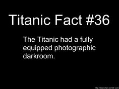 Titanic Fact #36