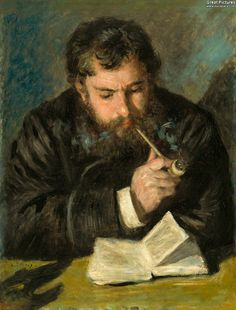 Pierre-Auguste Renoir: Claude Monet, 1872. Oil on canvas, 65 x 50 cm. National Gallery of Art, Washington