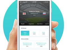 Goalrilla the slickest way to bet on football  by George Gliddon #Design Popular #Dribbble #shots