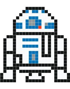 R2D2 pixel art - Stickaz