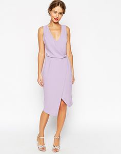 ASOS WEDDING Drape Front With Lattice Back