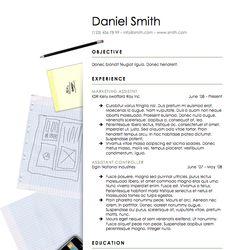 Bermuda Resume Template  Resume Downloads  Creative Resume