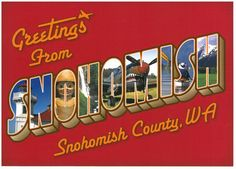 """Welcome to Snohomish County, WA! The only place I have been where they have """"Watch for Fish"""" and """"Fish Crossing"""" road signs. When the snow melts in the Spring, the creeks and streams run over the road and so do the FISH!"""