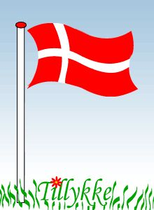 klik for at se i normal størrelse Birthday Qoutes, Birthday Wishes Funny, Birthday Images, Happy Birthday, Flag Animation, Flag Gif, Danish Christmas, Happy B Day, Happy Valentines Day