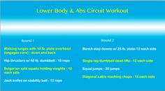 Lower Body & Abs Circuit Workout from runningaroundnormal.com
