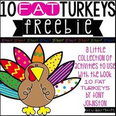 10 Fat Turkeys! {FREEBIE!}
