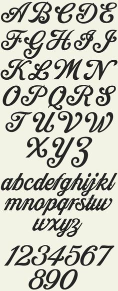 Cool Font Alphabet; definitely thinking on getting my first tattoo with this font