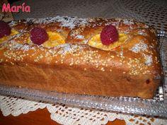 Cake integral de naranja y frambuesas