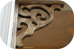 Corbel Accent in Doorway. DIY natural wood.