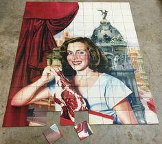 Art mural for delicatessen in Sydney