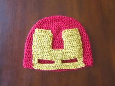Iron Man Avengers Hat Free Crochet Pattern