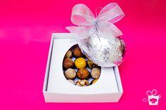 Ovo Mimos e Cossitas - casca de chocolate ao leite ou crocante com doces finos. (250g ou 500g)