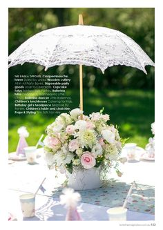 lace umbrella centre piece