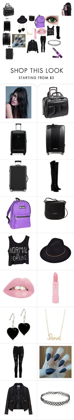 """Untitled #25"" by luna-cxxi on Polyvore featuring Balmain, McKleinUSA, Victorinox Swiss Army, TecknoMonster, Rimowa, Aquazzura, Everest, Lancaster, Forever 21 and Sydney Evan"