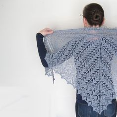 Lace bridal shawl hand knit cover up alpaca gray wrap by Otruta