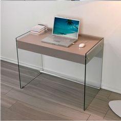 Scrivania+moderna+Roland+per+ufficio+in+vetro+120+x+70+cm ...