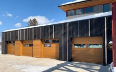 Garage Door Design Styles You Should Know About Carriage Style Garage Doors, Custom Garage Doors, Modern Garage Doors, Garage Door Design, Modern Door, Speakeasy Door, Front Porch Railings, Exterior Cladding, Tudor House