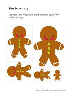 Worksheets Sequencing Skills Worksheets Preschool deutsch gingerbread cookies and on pinterest themed skill worksheets