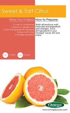Benefits of #Juicing #Recipe 7 - Improve your #Blood #Circulation with Sweet & Tart Citrus Juice & Omega Juicer!