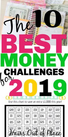 10 money saving challenge ideas for 2019 that are fun and easy! Includes 30 day money challenges, 52 week challenges, fun ideas for teens and money printables too! #money #budgeting #savingmoney #cash