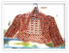 Tejido Crochet bolero- spanish instructions+chart