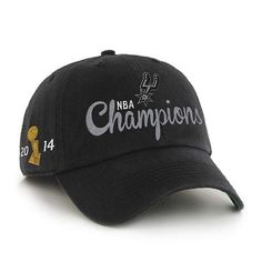 brand new f92e4 d31ec San Antonio Spurs 47 Brand Franchise 2014 NBA Champs Trophy Fitted Hat Cap