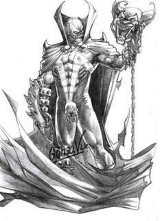 Spawn, El Engendro. Ilustración a lápiz de GonzaVLK.