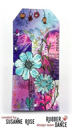 Susanne Rose - Papierkleckse: Mixed Media Tag for the Rubber Dance Challenge