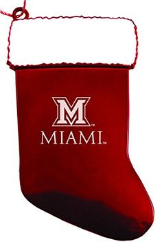 Miami University  Chirstmas Holiday Stocking Ornament  Red >>> You can get additional details at the image link.