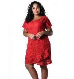 Vestido Plus Size de Renda Vermelho Lenner Plus Backgrounds Girly, Girl Background, Vestidos Plus Size, Moda Plus Size, Pumps, Healthy People 2020, Lace Skirt, Ideias Fashion, Short Sleeve Dresses