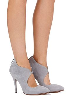 Grey Suede Pumps, but i think i would like them better as wedges