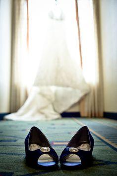 Royal Blue bridal shoes