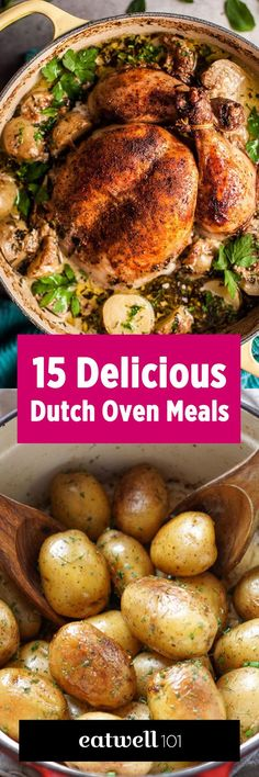 Fill your meal plan for weeks with these easy dutch oven recipes. eatwell101.com