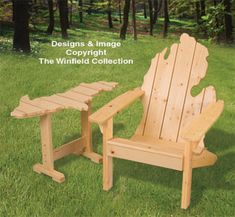 Adirondack MICHIGAN Chair & UP Table Plans