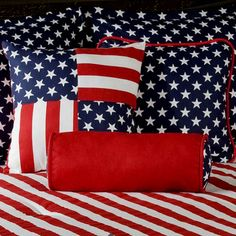 Pink Stripe XL Twin Comforter | American Flag Stars and Stripes Twin XL Comforter Set | FREE SHIPPING