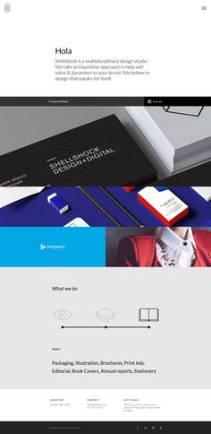Shellshock - Minimal Design Website