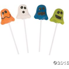 Funny Face Ghost Lollipops ($5.75) ❤ liked on Polyvore featuring home, home decor and halloween home decor