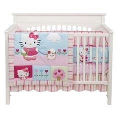 Bedtime Originals Hello Kitty and Puppy 4-Piece Baby Crib Bedding Set - Pink $63.99