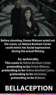 This is probably my favourite bit of HP trivia. And I love me some movie trivia....