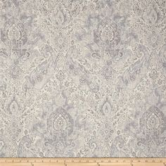 This beautiful screen-printed medium weight fabric features the classic look of linen, with the added versatility of cotton. Fabric features slubs for great interest. Perfect for window treatments (draperies, swags, valences), toss pillows, bedding, and more. Colors include grey and beige.