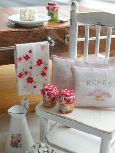Cynthia's Cottage Design: ~ A New Project ~ Her designs are so cheerful!  I love the little kitchen towel's pattern.