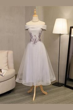 Lace Homecoming Dresses #LaceHomecomingDresses, Grey Prom Dresses #GreyPromDresses, Prom Dresses Lace #PromDressesLace, Prom Dresses Long #PromDressesLong, Grey Homecoming Dresses #GreyHomecomingDresses