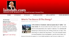 What Is The Source Of The Energy? | Laitman.com